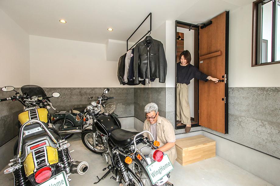 「バイクガレージのある平屋風のお家」 アイキャッチ画像